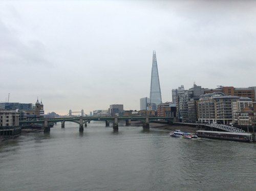 The Shard & Tower Bridge to my left